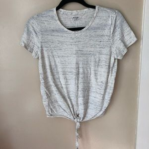 Madewell tie front tee shirt